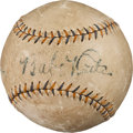 Baseball Collectibles:Balls, 1930's Babe Ruth Signed Baseball From The Gary CarterCollection....