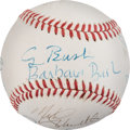Baseball Collectibles:Balls, Circa 1990 President George H.W. & Barbara Bush & OthersSigned Baseball from The Gary Carter Collection....