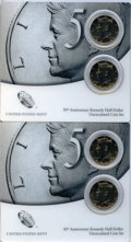 Kennedy Half Dollars, (2) 2014-PD Two-Piece 50th Anniversary Kennedy Half DollarUncirculated Coin Sets, Uncertified. Both sets include theDenver... (Total: 4 coins)