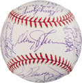 Baseball Collectibles:Balls, 1986 New York Mets Team Signed Baseball from The Gary CarterCollection....