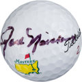 Golf Collectibles:Autographs, Circa 2000 Jack Nicklaus Signed Golf Ball from The Gary CarterCollection....