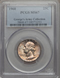 Washington Quarters, 1960 25C MS67 PCGS. Ex: George's Army Collection. PCGS Population:(17/0). NGC Census: (69/0). Mintage 29,100,000. ...