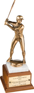 Baseball Collectibles:Others, 1984 Gary Carter Claude Raymond Expos Most Popular Player Trophy from The Gary Carter Collection. ...