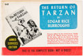Books:Science Fiction & Fantasy, Edgar Rice Burroughs. The Return of Tarzan. New York: Editions for the Armed Forces, 1943. Armed Services editio...