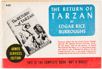 Edgar Rice Burroughs. The Return of Tarzan. New York: Editions for the Armed Forces