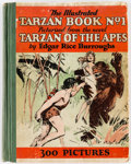 """Books:Children's Books, Edgar Rice Burroughs. The Illustrated Tarzan Book No. 1Picturized from the Novel """"Tarzan of the Apes."""" New York..."""