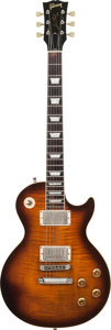 Musical Instruments:Electric Guitars, 2002 Gibson Les Paul Sunburst Solid Body Electric Guitar, Serial # 00322576, Weight: 8.4 lbs....