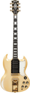 Musical Instruments:Electric Guitars, Circa 1965 Gibson SG Custom Gold Solid Body Electric Guitar,Weight: 7.4 lbs....