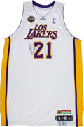 "Basketball Collectibles:Uniforms, 2009 Josh Powell Game Worn, Signed Los Angeles Lakers ""LatinNights"" Jersey. ..."