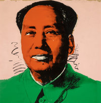 Andy Warhol (1928-1987) Mao (with Orange Face), 1972 Screenprint in colors on Beckett High White pap