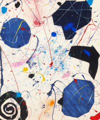 Sam Francis (1923-1994) Untitled Monoprint on handmade paper 29-1/2 x 24-3/4 inches (74.9 x 62.9