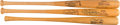 Baseball Collectibles:Bats, 1960's-'80's Baseball Greats Signed Bats Lot of 3 from The Gary Carter Collection. ...