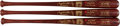 Baseball Collectibles:Bats, 2003 Gary Carter & Eddie Murray Signed Limited Edition Hall of Fame Bats Lot of 3 from The Gary Carter Collection. ...