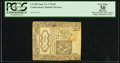 Colonial Notes:Connecticut, Connecticut June 19, 1776 6d Uncancelled PCGS Apparent Very Fine30.. ...