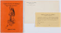 Books:Pamphlets & Tracts, [Fan Clubs]. Tarzan Clans of America Pamphlet. Tarzana: Tarzan Clans of America, 1939....