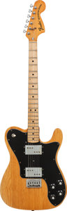 Musical Instruments:Electric Guitars, 1973 Fender Telecaster Deluxe Natural Solid Body Electric Guitar,Serial # 398601, Weight: 8.5 lbs....