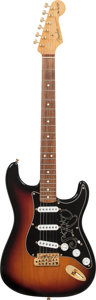 Musical Instruments:Electric Guitars, 2003 Fender SRV Stratocaster Sunburst Solid Body Electric Guitar,Serial # SZ3044834, Weight: 8.4 lbs....