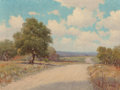 Fine Art - Painting, American:Modern  (1900 1949)  , Porfirio Salinas (American, 1910-1973). Hill Country Road.Oil on canvas. 16 x 21 inches (40.6 x 53.3 cm). Signed lower ...