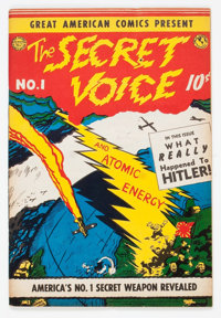 Great American Comics Presents - The Secret Voice #1 (American Features Syndicate, 1945) Condition: VG/FN