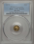 California Fractional Gold , 1870 50C Goofy Head Octagonal 50 Cents, BG-936, Low R.5, -- Bent --PCGS Genuine. UNC Details. NGC Census: (0/6). PCGS Popu...