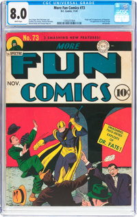 More Fun Comics #73 (DC, 1941) CGC VF 8.0 White pages