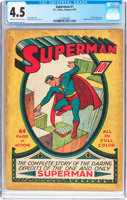 Featured item image of Superman #1 (DC, 1939) CGC VG+ 4.5 Cream to off-white pages....
