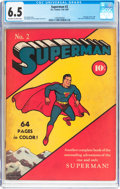 Golden Age (1938-1955):Superhero, Superman #2 (DC, 1939) CGC FN+ 6.5 Off-white to white pages....