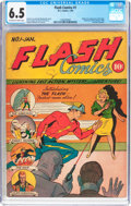 Golden Age (1938-1955):Superhero, Flash Comics #1 (DC, 1940) CGC FN+ 6.5 Off-white to white pages....