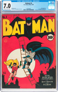 Golden Age (1938-1955):Superhero, Batman #4 (DC, 1940) CGC FN/VF 7.0 Off-white to white pages....