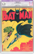 Golden Age (1938-1955):Superhero, Batman #1 (DC, 1940) CGC Apparent FN 6.0 Moderate (P) Cream to off-white pages....