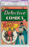 Golden Age (1938-1955):Superhero, Detective Comics #38 (DC, 1940) CGC Apparent FN+ 6.5 Extensive (P) Off-white to white pages....