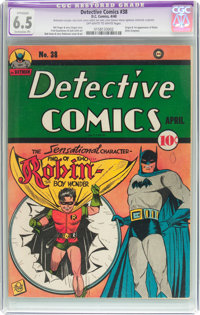 Detective Comics #38 (DC, 1940) CGC Apparent FN+ 6.5 Extensive (P) Off-white to white pages