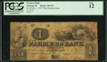 Obsoletes By State:Illinois, Chicago, IL - Farmers Bank $1 Oct. 1, 1852 N5 Non-Genuine Issue. ...