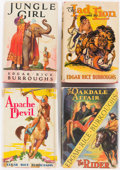 Books:Pulps, Edgar Rice Burroughs. Group of Four Books. New York: Grosset &Dunlap, [1934-1940]. Reprint editions.... (Total: 4 Items)