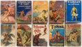 Books:Pulps, Edgar Rice Burroughs. Group of Ten Books. New York: Grosset &Dunlap, [circa 1927-1930].... (Total: 10 Items)