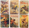 Books:Pulps, Edgar Rice Burroughs. Group of Six Books. New York: Grosset &Dunlap, [1927-1930]. Reprint editions.... (Total: 6 Items)