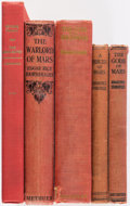 Books:Pulps, Edgar Rice Burroughs. Group of Five Miscellaneous Titles. New York: [circa 1920-1957]. Two first editions, one first British... (Total: 5 Items)
