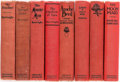 Books:Pulps, Edgar Rice Burroughs. Group of Eight Books. New York: Grosset &Dunlap, [circa 1922-1930]. Reprint editions.... (Total: 8 Items)