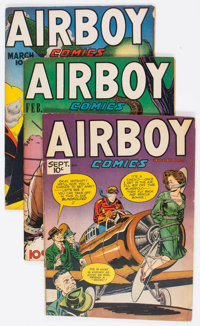 Airboy Comics Group of 10 (Hillman Fall, 1947-48) Condition: Average VG/FN.... (Total: 10 Comic Books)