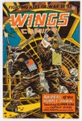 Golden Age (1938-1955):War, Wings Comics #61 (Fiction House, 1945) Condition: FN/VF....