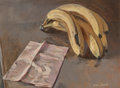 Fine Art - Painting, American:Modern  (1900 1949)  , Hughie Lee-Smith (American, 1915-1999). Bananas, 1978. Oilon canvas. 12 x 16 inches (30.5 x 40.6 cm). Signed lower righ...