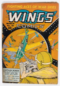 Golden Age (1938-1955):War, Wings Comics #19 (Fiction House, 1942) Condition: VG+....