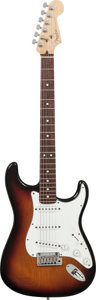 Musical Instruments:Electric Guitars, 1999 Fender Stratocaster Sunburst Solid Body Electric Guitar,Serial # N9424476, Weight: 8.6 lbs....