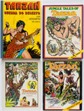 Books:Art & Architecture, [Tarzan]. Burne Hogarth. Group of Four Books. New York and elsewhere: [n.d., circa 1970-1976].... (Total: 4 Items)