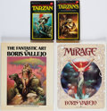 Books:Art & Architecture, [Boris Vallejo]. Pair of Art Books [together with:] Two Tarzan Titles. New York: [1978-1984]. Two first edit... (Total: 4 Items)