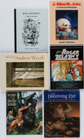 Books:Art & Architecture, [Russ Manning, Joe Jusko, Andrew Wyeth, et al]. Group of Six Art Books. Boston and elsewhere: [1965-1991]. First editions.... (Total: 6 Items)