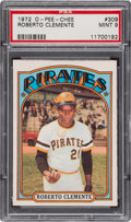Baseball Cards:Singles (1970-Now), 1972 O-Pee-Chee Roberto Clemente #309 PSA Mint 9 - None Higher. ...