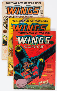 Wings Comics Group of 6 (Fiction House, 1941-43) Condition: Average GD+.... (Total: 6 Comic Books)