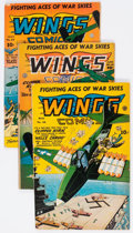 Golden Age (1938-1955):War, Wings Comics Group of 11 (Fiction House, 1944-46) Condition:Average VG/FN.... (Total: 11 Comic Books)