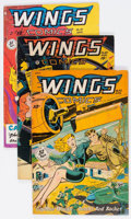 Golden Age (1938-1955):War, Wings Comics Group of 14 (Fiction House, 1947-54) Condition:Average VG+.... (Total: 14 Comic Books)